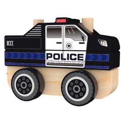 ZABAWKA DREWNIANA POLICJA 60999-33550
