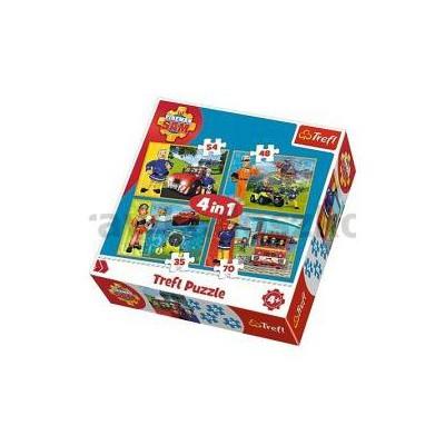 Puzzle 4w1 Strażak Sam Na ratunek TREFL 34311-33764