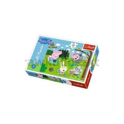 Puzzle 30 Świnka Peppa Leśna wyprawa TREFL-33781