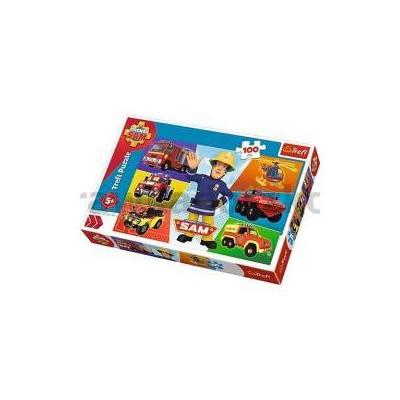 Puzzle 100 Pojazdy Strażaka Sama TREFL 16354-33802