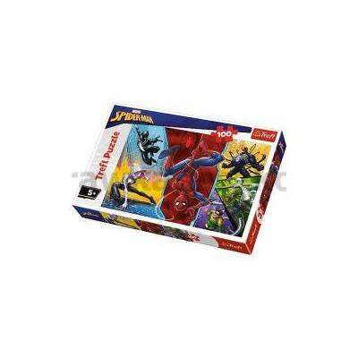 Puzzle 100 Do góry nogami Marvel Spiderman TREFL-33806