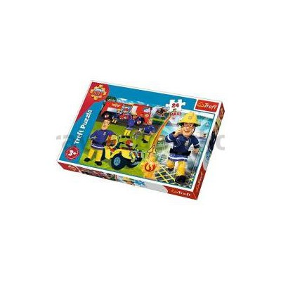 Puzzle 24 maxi Dzielny strażak Sam TREFL-33819
