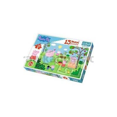 Puzzle 15 maxi Peppa w ogrodzie TREFL-33821