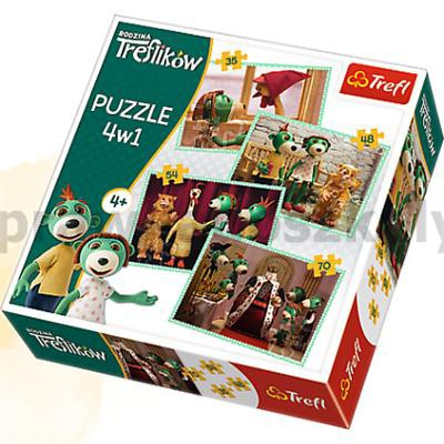 Puzzle 4w1 Rodzina Treflików Nowi przyjaciele-33955