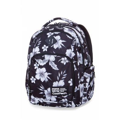 Plecak CoolPack BREAK w białe kwiaty, WHITE HIBISC-34028
