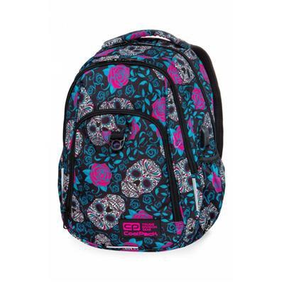 Plecak CoolPack STRIKE L w czaszki i róże, SKULL-34033