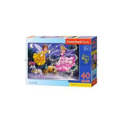 Puzzle 40 maxi - Cinderella CASTOR