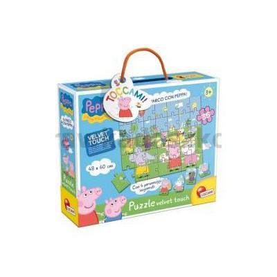 Puzzle Świnka Peppa w parku velvet touch 35-34194