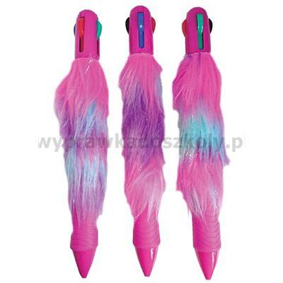 Stnux: Długopis 6-kolorowy z futrem -34260