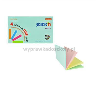 Karteczki samop. STICK'N 76x127 Magic - mix pastel-34275
