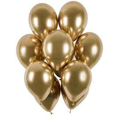 """Balony """"Shiny"""", złoty chrom, Gemar, 13"""", cena/szt-34337"""