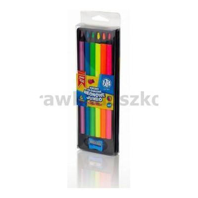 Kredki ołówkowe neonowe Jumbo 6 kolorów ASTRA-34400