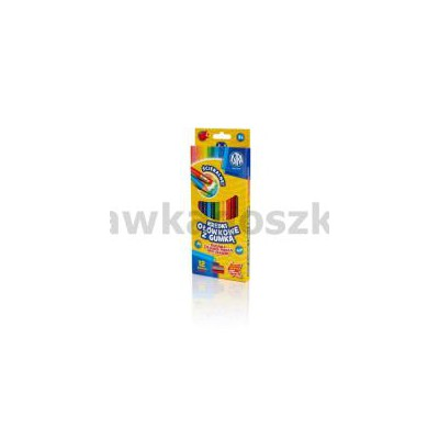 Kredki ołówkowe z gumką, 12 kolorów-34401