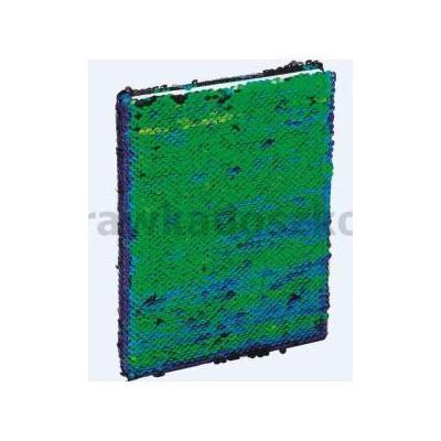 Brulion A5/96K z cekinami zielono-czarny GRAND-34993