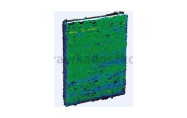 Brulion A5/96K z cekinami zielono-czarny GRAND