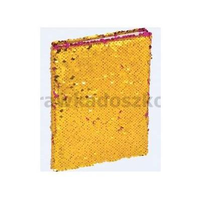 Brulion A5/96K z cekinami różowo - złoty GRAND-34994