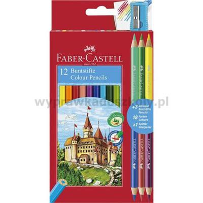 Kredki Dwustronne 15 szt. Faber Castell-35024
