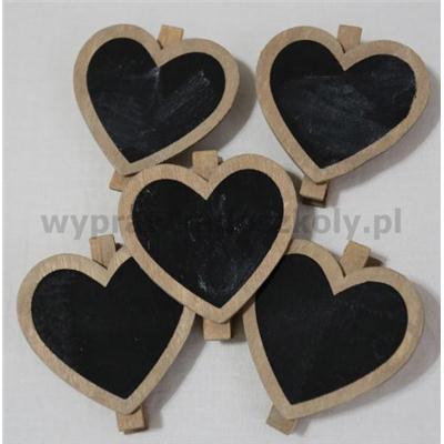 Tabliczki w kszt. serc 1op.4 szt.1szt.d7cm l7,5cm-34248