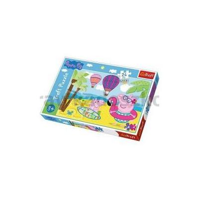 Puzzle 24 maxi Świnka Peppa na wakacjach TREFL-35969