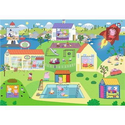 Puzzle z okienkiem 36el Świat Świnki Peppy T-37951