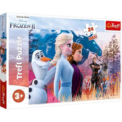 Puzzle 24-Maxi Magiczna wyprawa Disney Frozen 2 14-37981