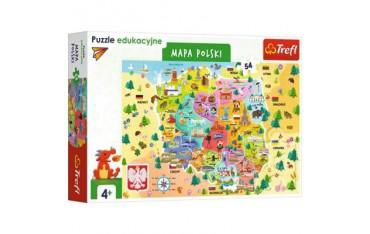 Puzzle 54el Edukacyjne - Mapa Polski 15556 Trefl