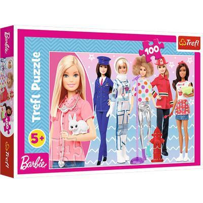 Puzzle 100el Barbie Możesz być kim chcesz 16385 Tr-37964