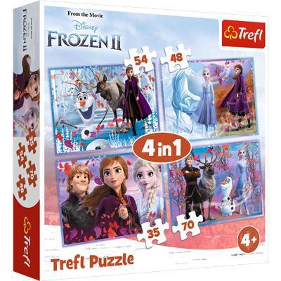 Puzzle 4w1 Podróż w nieznane Disney Frozen 2 34323-37972