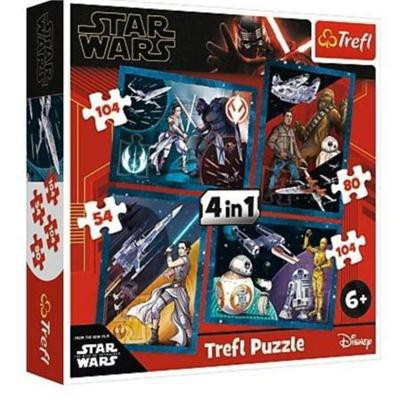 Puzzle 4w1 Poczuj Moc Star Wars 34326 Trefl-37967