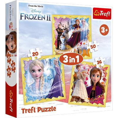 puzzle 3w1 Moc Anny i Elsy Frozen 2-37902