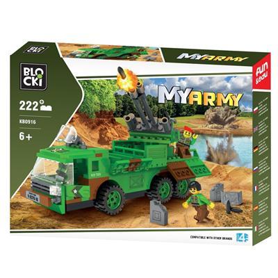 Klocki Blocki Wojsko Wyrzutnia Rakiet 222 el.-39972
