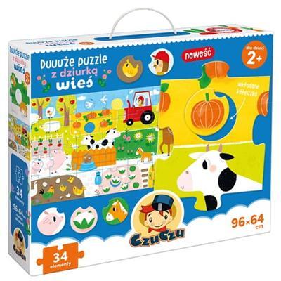CzuCzu Duuuże puzzle z dziurką Wieś-41377
