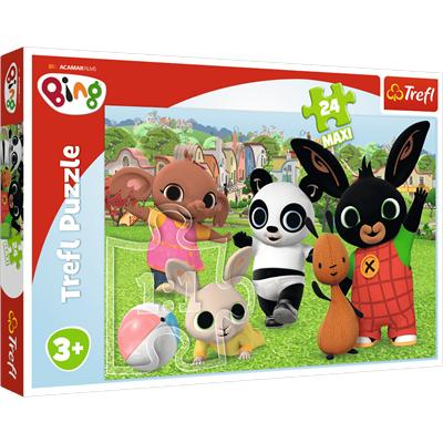 Puzzle 24-Maxi Zabawa w parku. Bing. Acamar Films-44735