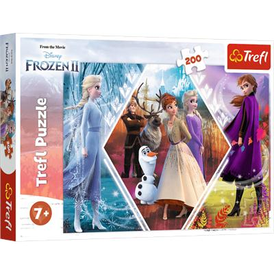 Puzzle 200el Siostry w Krainie Lodu. Disney Frozen-44725