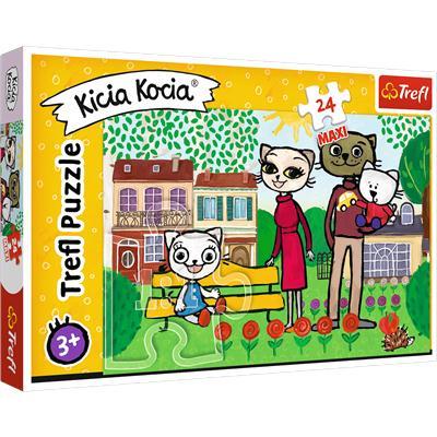 Puzzle 24-Maxi zabawy Kici Koci 14316 TREFL-44736