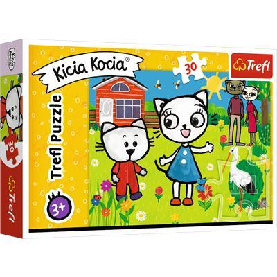 Puzzle 30el Przygody Kici Koci 18264 TREFL-44739