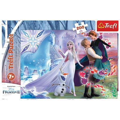 Puzzle 200el Magiczny świat sióstr. Frozen 2. 1326-44723