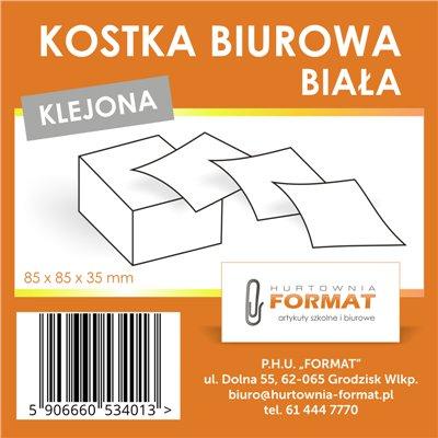 KOSTKA BIUROWA BIAŁA KLEJONA-21793