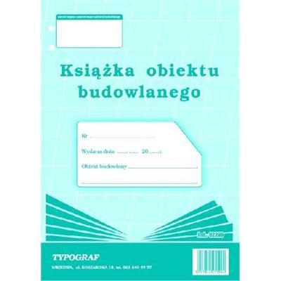 KSIĄŻKA OBIEKTU BUDOWLANEGO TYPOGRAF 02299-1007