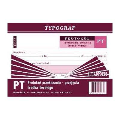 PT - PROTOKÓŁ PRZEKAZANIA ŚRODKÓW TRWAŁYCH A5-1144
