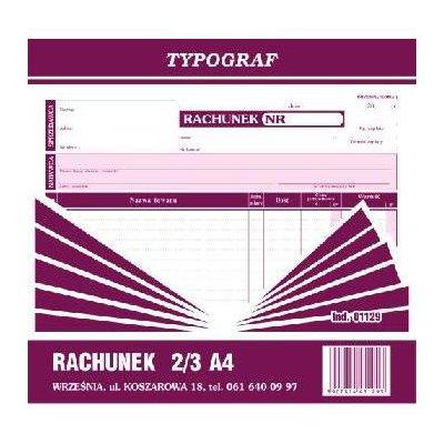 RACHUNEK 2/3 A4 01129-1059