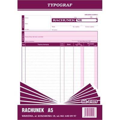 RACHUNEK A5 PION 01029-1062
