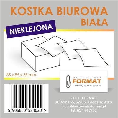 KOSTKA BIUROWA BIAŁA NIEKLEJONA-21794