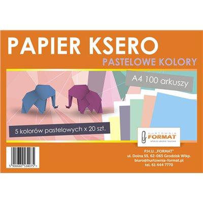 PAPIER KSERO KOLOR A100 MIX PASTEL-21798