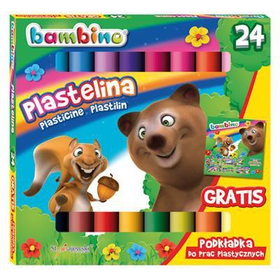 PLASTELINA 24 KOLORY BAMBINO-12185