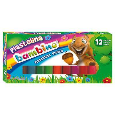 PLASTELINA BAMBINO 12 KOLORÓW-12190