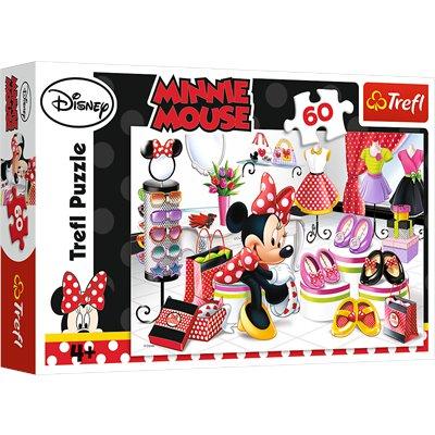 Puzzle 60 Myszka Minnie Zakupowe Szaleństwa Trefl-46608