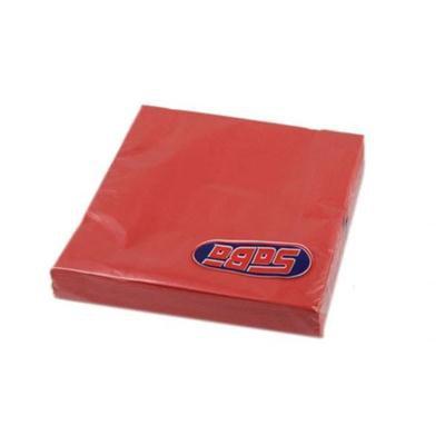 Serwetka składana 33x33cm 3w 20szt czerwona SABA-46490