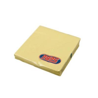 Serwetka składana 33x33cm 3w 20szt żółta SABA-46497