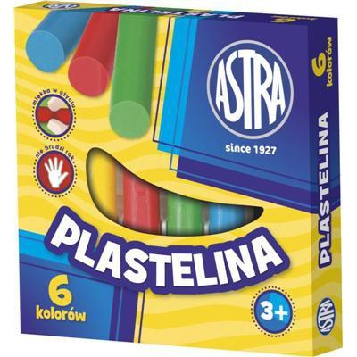 PLASTELINA ASTRA 6 KOLORÓW-13344